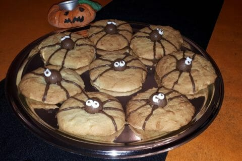 Spider cookies (cookies araignées) Thermomix par lilou37