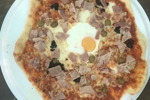 Pizza au thon et aux olives au Thermomix