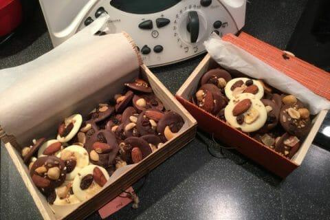 Mendiants au chocolat Thermomix par cegachris