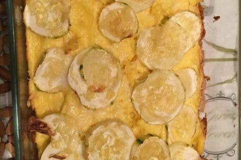 Polenta au pistou, tomates séchées et courgettes Thermomix par Marie.ael