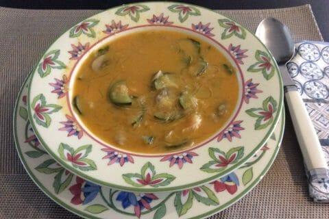 Soupe thaï crevettes et lait de coco Thermomix par Inthemix28
