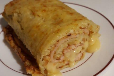 Roulé de pommes de terre, jambon et reblochon Thermomix par Maissa-73