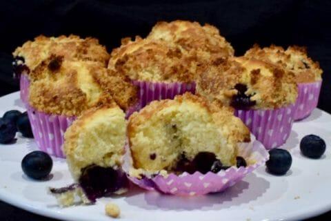 Muffins aux myrtilles Thermomix par Laurette04