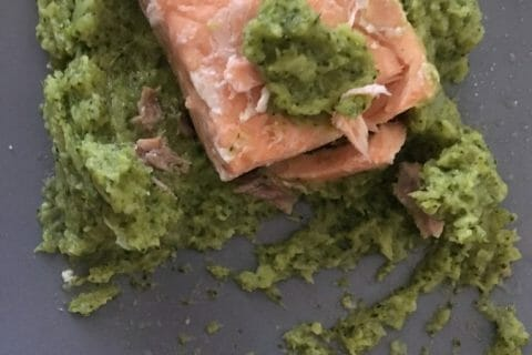 Saumon sur purée de brocolis Thermomix par carocawo