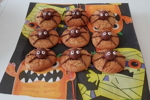 Spider cookies (cookies araignées) Thermomix par LadyGaga