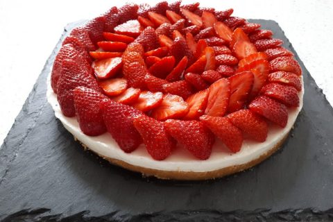 Tarte aux fraises sans cuisson Thermomix par melagie14
