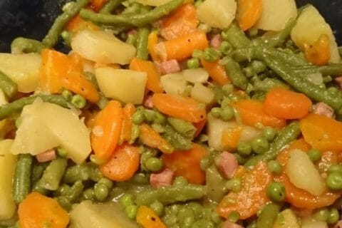 Jardinière de légumes aux lardons Thermomix par Celine_42