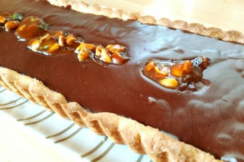 Tarte au chocolat et cacahuètes caramélisées Thermomix par Karine