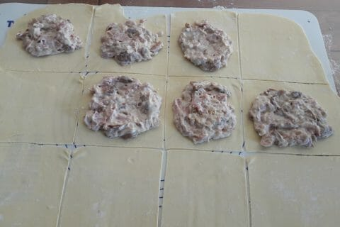 Friands jambon, champignons et fromage au Thermomix