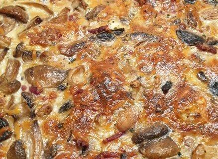 Tarte champignons et lardons Thermomix par Elhor