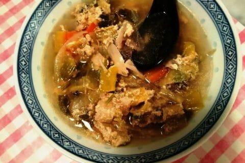 Bouillon Chinois, poulet et poireaux Thermomix par Schtroumpfette