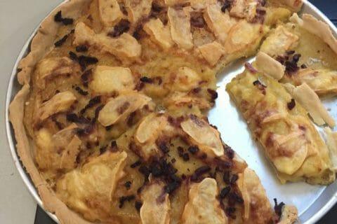 Tarte aux pommes de terre et lardons Thermomix par Cathy39100