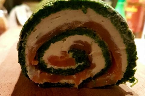 Roulé aux épinards, saumon et Boursin Thermomix par Jenny8312
