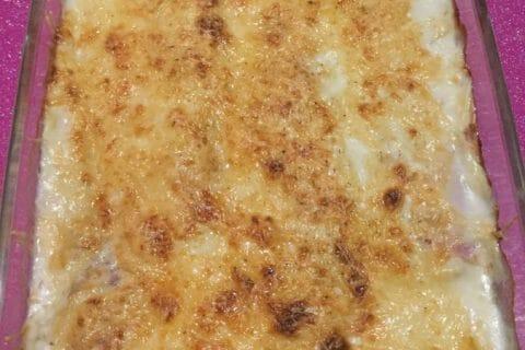 Gratin de poireau au jambon Thermomix par Vinou73