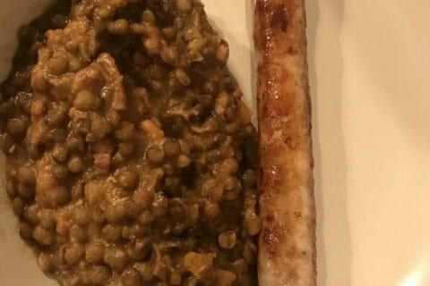 Lentilles et ses saucisses Thermomix par dumarie
