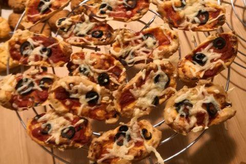 Muffins salés façon pizza Thermomix par Tether