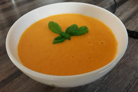 Velouté de carottes et poivrons rouges au Thermomix