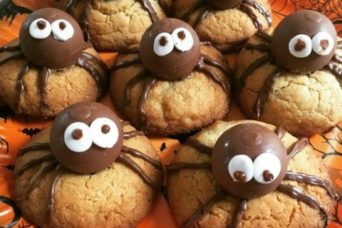 Spider cookies (cookies araignées) Thermomix par Florette