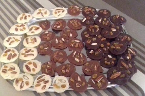 Mendiants au chocolat Thermomix par Guiguitte