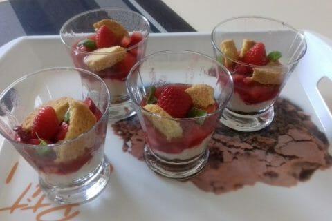 Tarte aux fraises destructurée Thermomix par Guiguitte