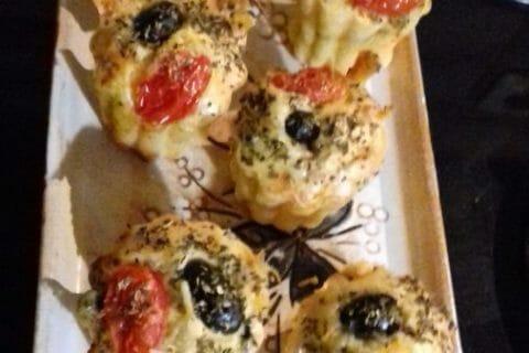 Muffins salés façon pizza Thermomix par Guiguitte