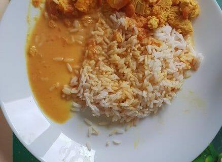 Curry de crevettes au lait de coco Thermomix par martial93
