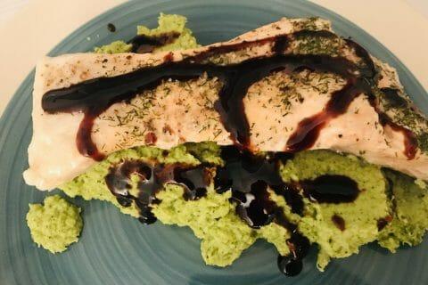 Saumon sur purée de brocolis au Thermomix