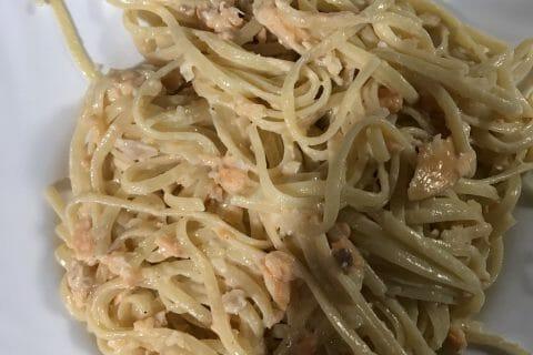 Spaghettis au saumon fumé au Thermomix