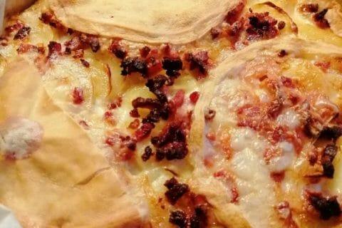 Tarte aux pommes de terre et lardons Thermomix par Typouic