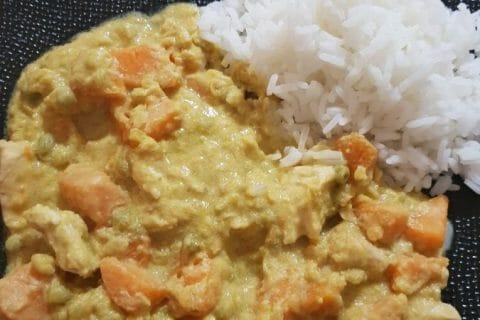 Curry de poulet aux patates douces Thermomix par Lisulana