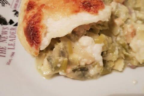 Lasagnes au saumon et poireaux Thermomix par Luce07