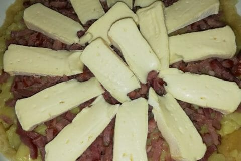 Tarte aux pommes de terre et lardons Thermomix par Miouin