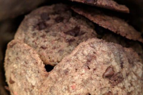 Cookies aux éclats de pralines roses et pépites de chocolat au Thermomix