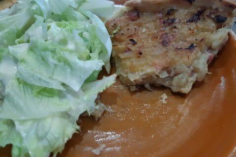 Tarte aux oignons, lardons et moutarde douce au Thermomix