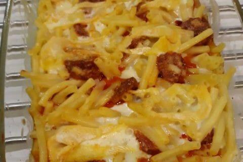 Gratin de macaroni reblochon et chorizo Thermomix par Emeline Durand