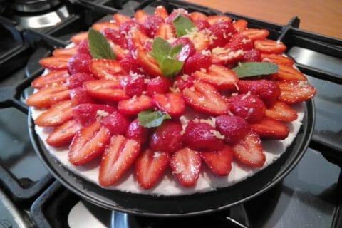 Tarte aux fraises sans cuisson Thermomix par soleil13