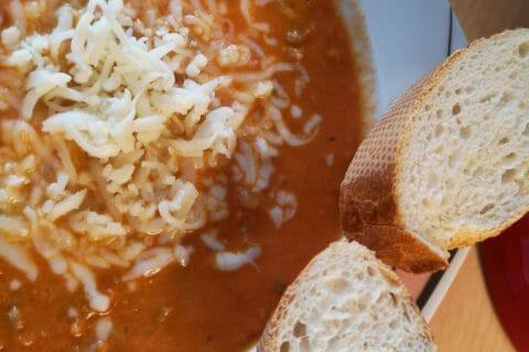 La pizza soupe Thermomix par Famille Pommaz
