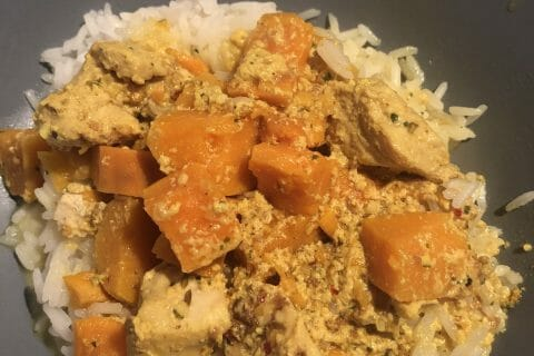 Curry de poulet aux patates douces au Thermomix