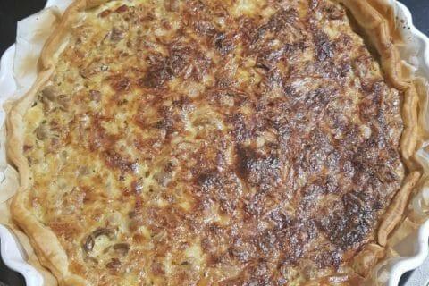 Tarte champignons et lardons Thermomix par Nounours62157