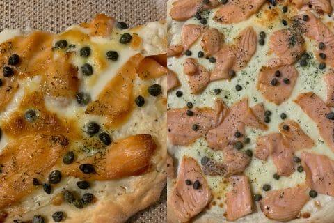 Pizza au saumon et sauce kiri au Thermomix