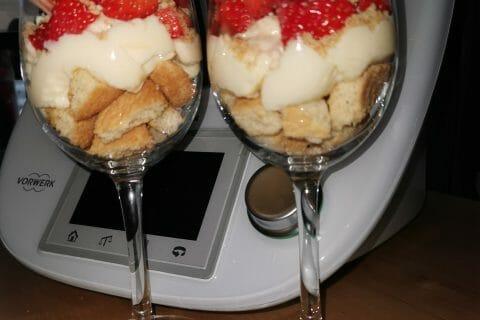 Tarte aux fraises destructurée au Thermomix