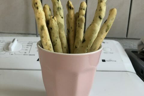 Gressins parmesan basilic au Thermomix
