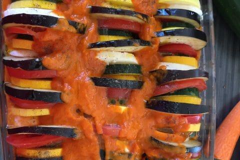 Tian de légumes et mozarella au Thermomix