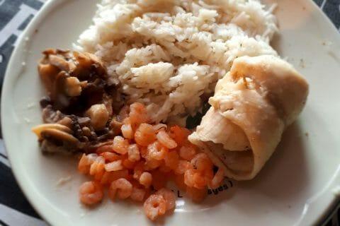 Filets de sole aux crevettes et champignons au Thermomix