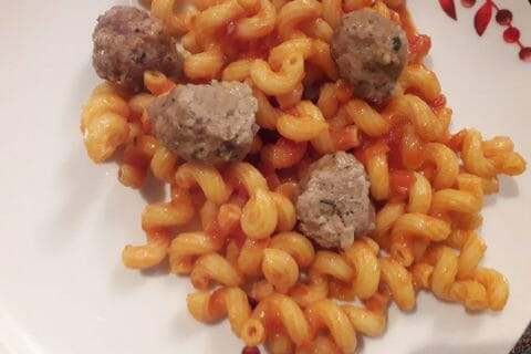 Boulettes de viandes à la sauce tomate Thermomix par Anso
