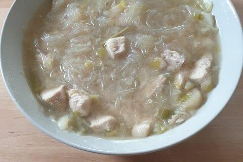 Bouillon Chinois, poulet et poireaux au Thermomix