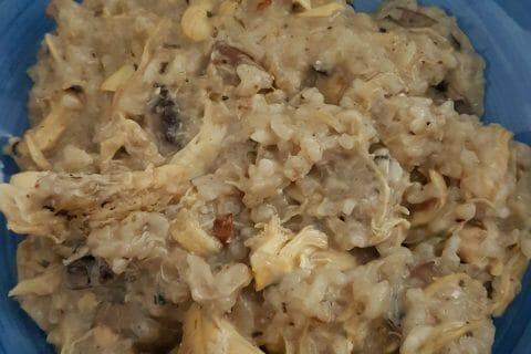 Risotto poulet et champignons au Thermomix