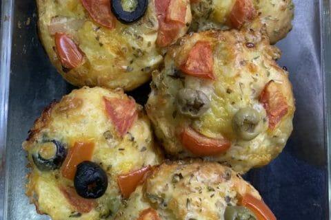 Muffins salés façon pizza Thermomix par Zrigoux