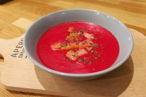 Soupe de betterave au saumon Thermomix par Finou