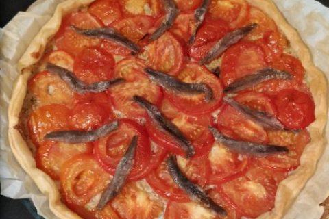 Tarte tomates et amandes Thermomix par Lacuisinecestlavie